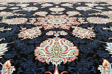 Features of embossed floral rugs